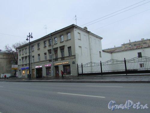 Московский проспект, дом 54. Лицевой корпус дома И.И. Замятина. Фото 16 ноября 2018 года.