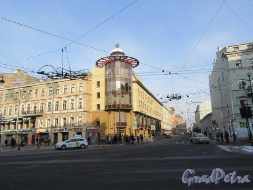 Перспектива Суворовского проспекта от Невского проспекта. фото февраль 2018 г.