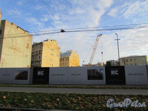 Малодетскосельский проспект, дом 40. Строительная площадка ЖК «IDEALIST». Фото 15 октября 2019 года.