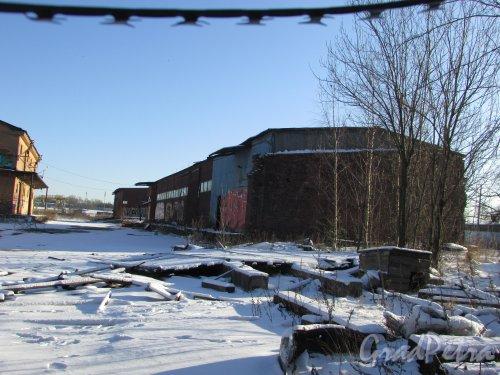 Лиговский проспект, дом 236, литера В. Сохранившееся здание склада. Фото 6 февраля 2020 года.