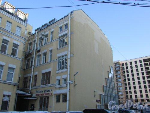 Лиговский проспект, дом 228, литера А. Дворовый корпус. Фото 6 февраля 2020 года.