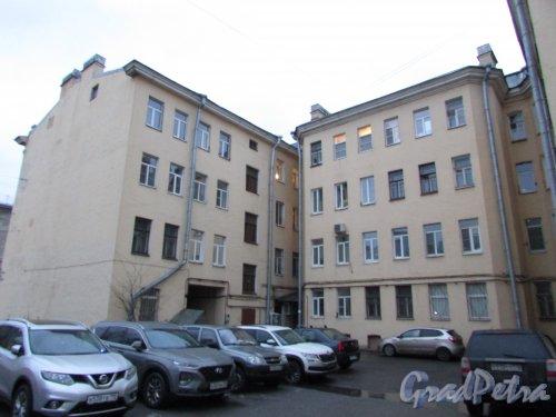 Лиговский проспект, дом 202, литера А. Общий вид двора жилого дома. Фото 10 февраля 2020 года.