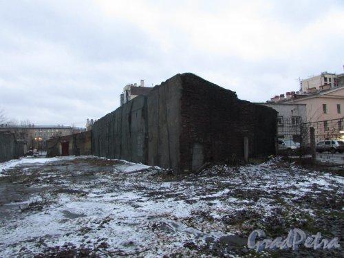 Лиговский проспект, дом 216, литера В. Общий вид дворового корпуса. Фото 10 февраля 2020 года.