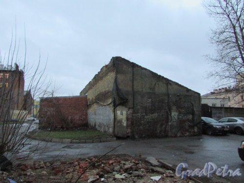 Лиговский проспект, дом 216, литера Б. Общий вид дворового корпуса. Фото 10 февраля 2020 года.