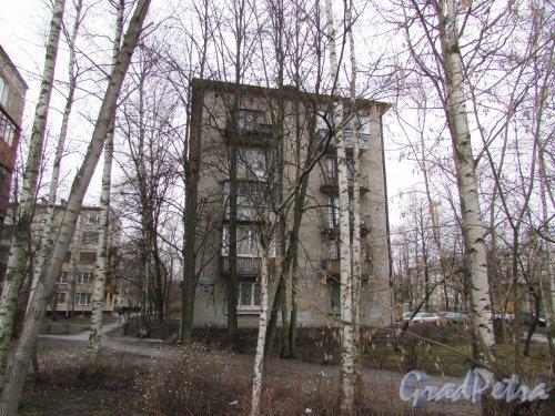 Новоизмайловский проспект, дом 18, корпус 3. Восточный торец здания. Фото 11 февраля 2020 г.