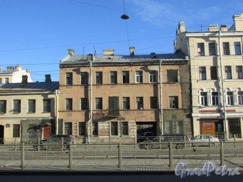 Лиговский проспект, дом 216, литера А. Фасад здания. Фото 25 февраля 2020 г.