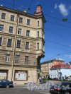 Малый пр., В.О., д. 45. Доходный дом, 1899-1902. Угловое завершение фасада. фото май 2018 г,