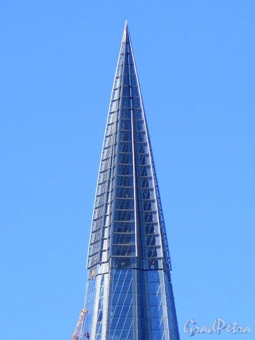 Лахтинский пр., д. 2. Лахта-центр. Высотное здание. Верхняя часть. фото май 2018 г.