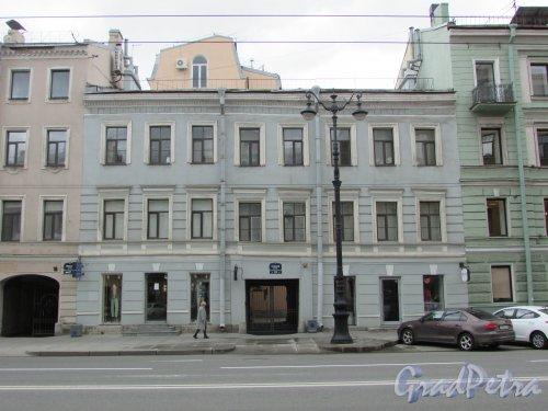 Невский проспект, дом 125, литера А. Фасад лицевого корпуса. Фото 7 мая 2020 г.