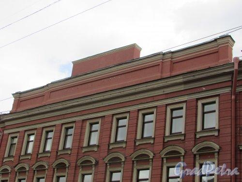Невский проспект, дом 176, литера А. Фронтон здания. Фото 7 мая 2020 г.