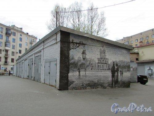 Суворовский проспект, дом 62, литера Б. Общий вид гаражей. Фото 7 мая 2020 г.