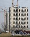 Южное шоссе, дом 59, корпус 2. Общий вид строящегосяжК с Бухарестской ул. Фото 28 февраля 2014 г.
