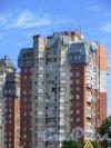 г. Сестрорецк, Дубковское шоссе, дом 11. Вид верхних этажей. Фото 27 июля 2015 года.