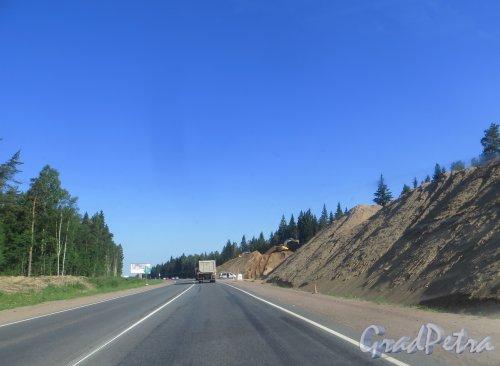 Реконструкция трассы Е-18 «Скандинавия» в районе 50 километра. Фото 4 июля 2015 года.