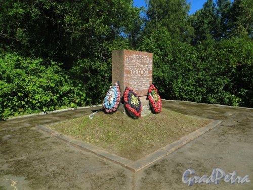 Трасса 41К-135. Памятник герою Советского Союза А.Ф. Типанову. Памятная стелла. Фото 20 августа 2015 года.