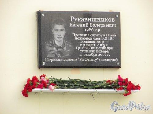 Мемориальная доска Е.В. Рукавишникову