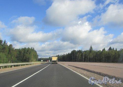 Расширение трассы «Скандинавия» в районе 57 километра. Фото 9 августа 2016 года.