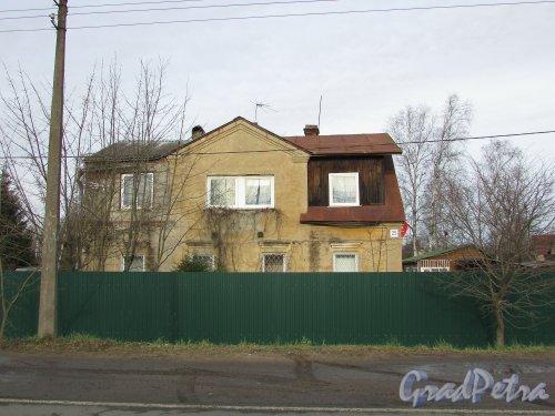 посёлок Сапёрный, Петрозаводское шоссе, дом 25. Индивидуальный жилой дом. Фото 2 ноября 2019 года.