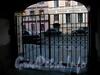 Ул. Чехова, д. 4. Бывший доходный дом. Решетка ворот. Фото октябрь 2009 г.