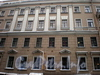Ул. Ефимова, д. 1 / Сенная пл., д. 4. Бывший доходный дом. Фрагмент фасада по улице. Фото февраль 2010 г.