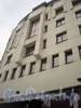 Ул. Ефимова, д. 4, лит. А. Бизнес-центр «Мир». Фрагмент угловой части фасада. Фото февраль 2010 г.