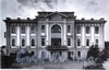 Парковая ул., д. 5. Главное здание Офицерской воздухоплавательной школы. Фасад здания. Фото 1992 г. (из книги «Историческая застройка Санкт-Петербурга»)