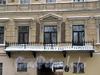 Ул. Рылеева, д. 3. Дом Спасо-Преображенского собора. Решетка центрального балкона. Фото февраль 2010 г.