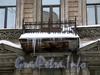Ул. Рылеева, д. 8. Решетка балкона. Фото февраль 2010 г.