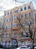 Бол. Конюшенная ул., д. 3. Бывший доходный дом. Фасад здания. Фото март 2010 г.