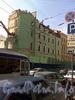 Малая Морская ул., д. 4 / Кирпичный пер., д. 1. Снос здания под строительство вестибюля станции метро «Адмиралтейская». Фото июль 2009 г.