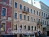 Фурштатская ул., д. 45. Фасад здания. Мини-отель «Австрийский дворик». Март 2009 г.