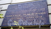Ул. Академика Павлова, д. 13, лит. А. Памятный знак на здании первой Ленинградской студии телевидения. Фото октябрь 2008 г.