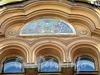 Ул. Достоевского, д. 38. Доходный дом Н.Н.Никонова. Художественное оформление фасада здания. Фото июль 2009 г.