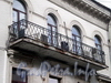 4-я Советская ул., д. 16. Дом Е.Тимофеева. Решетка балкона. Фото август 2009 г.