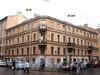 Дегтярная ул., д. 9 (правая часть) / 4-я Советская ул., д. 32. Бывший доходный дом. Общий вид здания. Фото август 2009 г.
