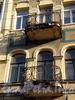 Ул. Черняховского, д. 51. Бывший доходный дом В. Е. Романова. Балконы. Фото октябрь 2009 г.