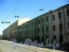 Дома 7, 9 и 11/4 по улице Чапаева. Перспектива нечетной стороны от Мал. Посадской улицы в сторону Пинского переулка. Фото август 2009 г.