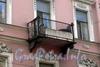 Гороховая ул., д. 39. Дом А. Н. Шлегель. Решетка балкона. Фото август 2009 г.