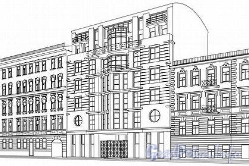 Конная ул. д. 24. Проект здания. Фото с сайта Агентство архитектурных новостей