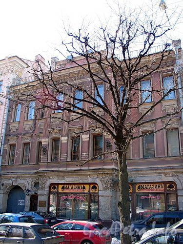 Бол. Конюшенная ул., д. 9. Особняк В. А. Слепцова. Фасад здания. Фото март 2010 г.