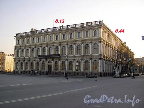 пл. Исаакиевская д.13 - ул. Б. Морская д.44