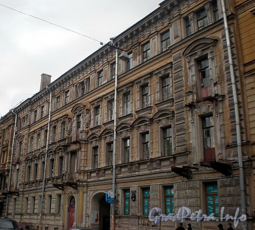 Ул. Ломоносова, д. 16. Доходный дом М. П. Кудрявцевой. Фасад здания. Фото март 2010 г.