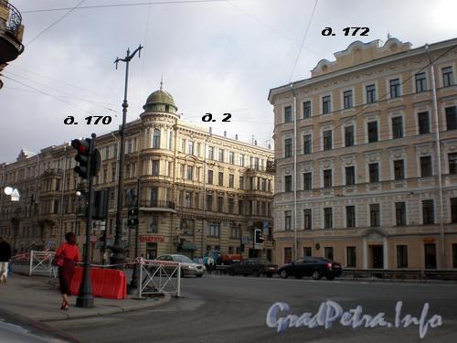 Исполкомская ул., д. 2/Невский пр., д.д. 170 и 172. Фото 2008 г.
