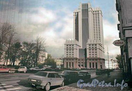 проект здания на месте кинотеатра Зенит (с сайта http://spb-gazeta.narod.ru)