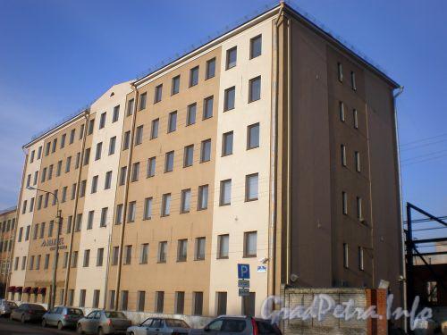 ул. Заставская, д. 3 лит. А. Общий вид нового офисного здания. Февраль 2009 г.