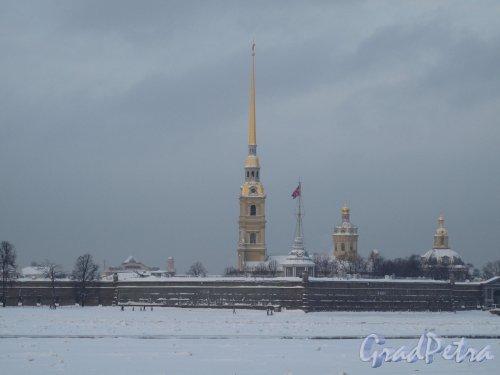 Петропавловская Крепость. Общий вид зимой. Фото январь 2011 г.
