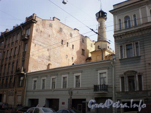 Ул. Чайковского, д. 49. Фасад депо «Сергиевской» пожарной части. Апрель 2009 г.