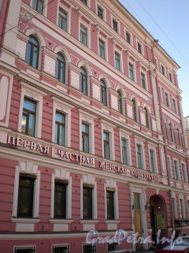 Фурштатская ул., д. 47 / Потемкинская ул., д. 11. Фрагмент фасада по Фурштатской ул. Март 2009 г.