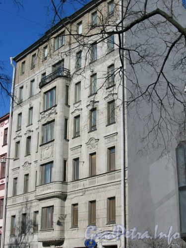 Фурштатская ул., д. 56. Бывший Доходный дом С. Н. Герке. Март 2009 г.