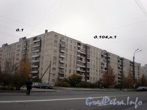 Будапештская ул., д. 104, к. 1/ Шипкинский пер., д. 1. Общий вид жилого дома. Октябрь 2008 г.
